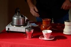 Koffie lekker bakkie koffie in de Museumwoning